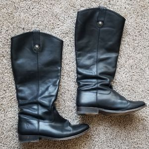 Genuine Leather Black Frye Boots Size 9